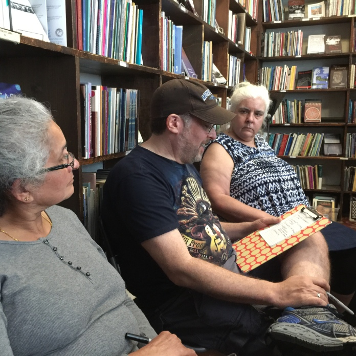 Diana Norma Szokolyai leads CREDO workshop at the Grolier Poetry Bookshop
