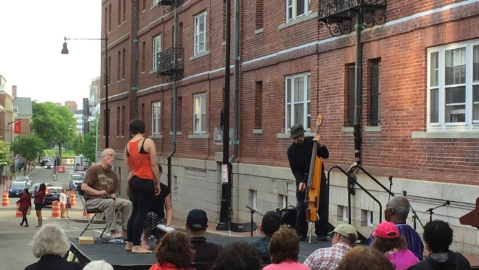 dancers at the Grolier Poetry Festival