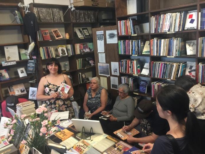 Diana Norma Szokolyai leads CREDO workshop at the Grolier Poetry Bookshop